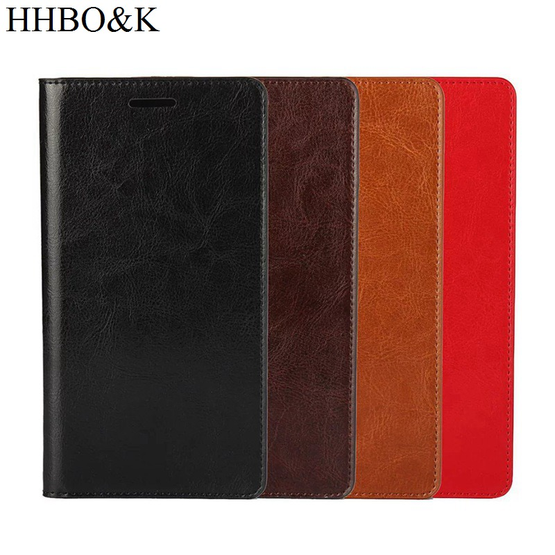 Business Crazy Horse Genuine Leather Case For Huawei Honor Note 8 Magnetic Filp Wallet Stand Cover