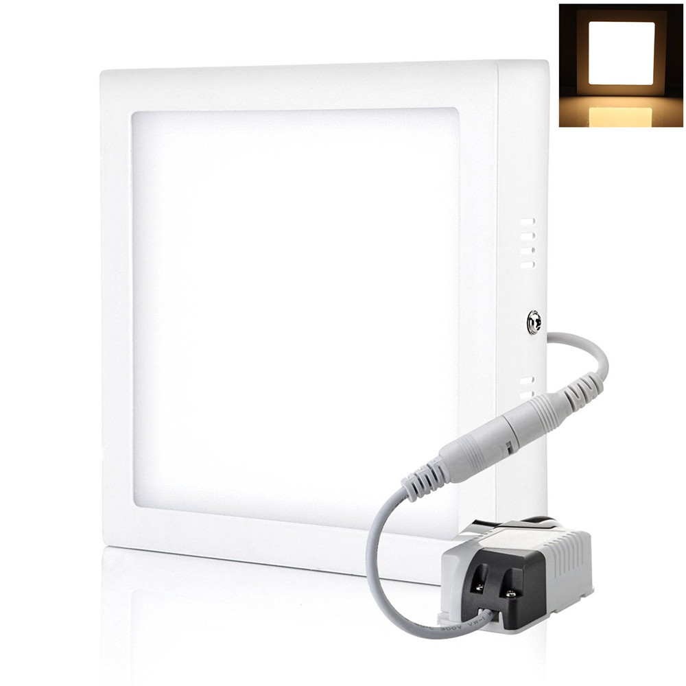 free shipping square led ceiling panel light 24w surface mounted panel led lamp ac85 265v white. Black Bedroom Furniture Sets. Home Design Ideas
