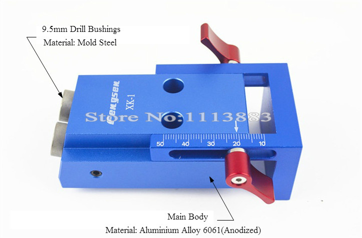 """Купить с кэшбэком Mini Pocket Hole Jig Kit System For Wood Working & Joinery with 3/8"""" inch 9.5mm Step Drill Bit"""