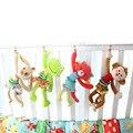 Animal Bebê Mobiles Sino Anel Chocalho Do Bebê Brinquedos de Pelúcia Macia Squeaker Brinquedo do bebê Bonito Dos Desenhos Animados puxar choque... BYC069 PT49