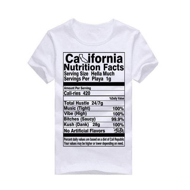 86a12d726e Fashion New Summer Mens T Shirts Cali Life California State Bear Funny t-Shirt  Tops Tees Cotton Short Sleeve Designer Clothing