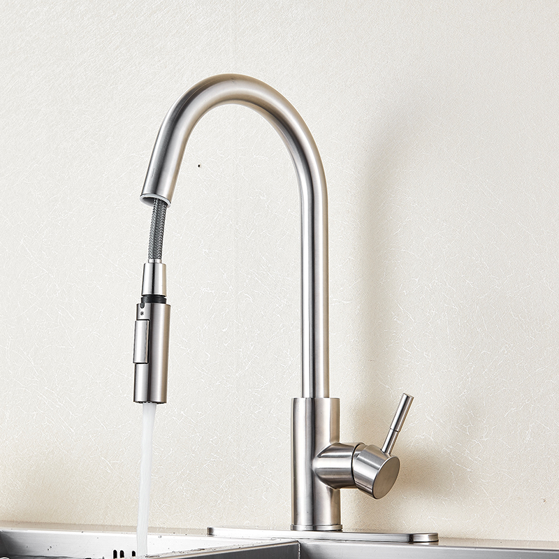 Poiqihy Stainless Steel Sensitive Touch Control Faucet Mixer Pull Out Sense Kitchen Tap In Faucets From Home