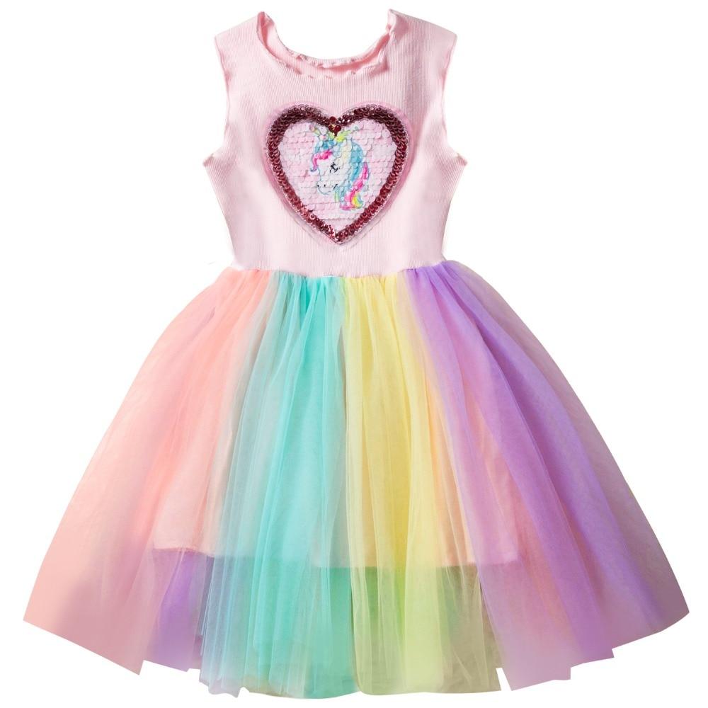 summer 2019 little girls birthday unicorn party dresses