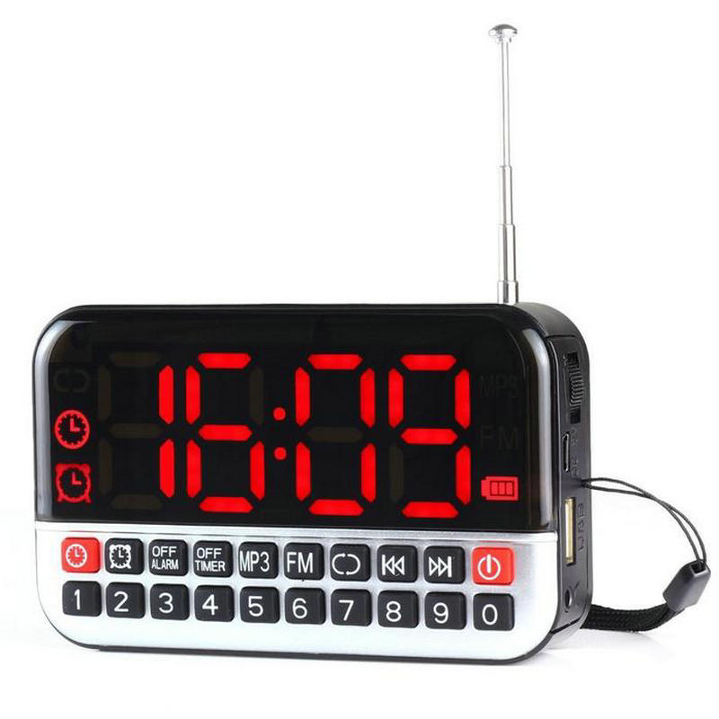 hot sale new fashion mobile radio recorder fm tuning alarm clock radio large digital lcd fm. Black Bedroom Furniture Sets. Home Design Ideas