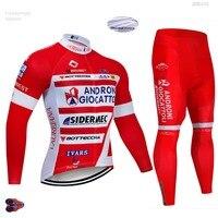 2019 Takım ANDR Kış Termal Polar Uzun Kollu Bisiklet Jersey Seti Giyim Bisiklet Kıyafetleri Giyim MTB Bisiklet Maillot Ropa Ciclismo