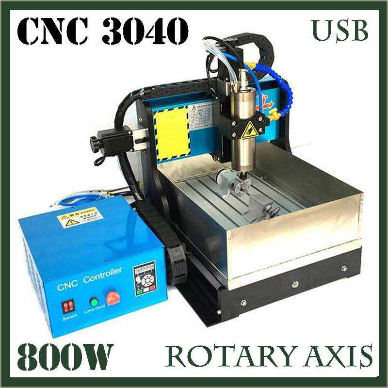 JFT Mini CNC Router 800W CNC Router with Water Tank High Precision Wood Engraving Machine 4 Axis with USB 2.0 Port 3040 jft new arrival high speed 4 axis 800w affordable cnc router with usb port precision drilling machine for woodworking 6090