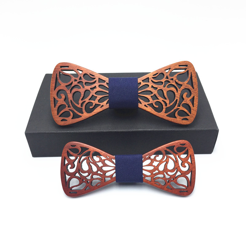 Father And Son Set Wedding Bow Tie Wooden Tuxedo Suit Business Necktie Fashion Novelty Gifts For Men Tie Free Shipping