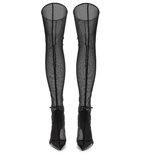 À Bottes Rome D'été Sexy Noir 44 Dames Cool Bout De Dame Solide Talons Chaussures Taille Mince Pêche Partie Hauts 34 Net Pointu Mode ZPq54Z