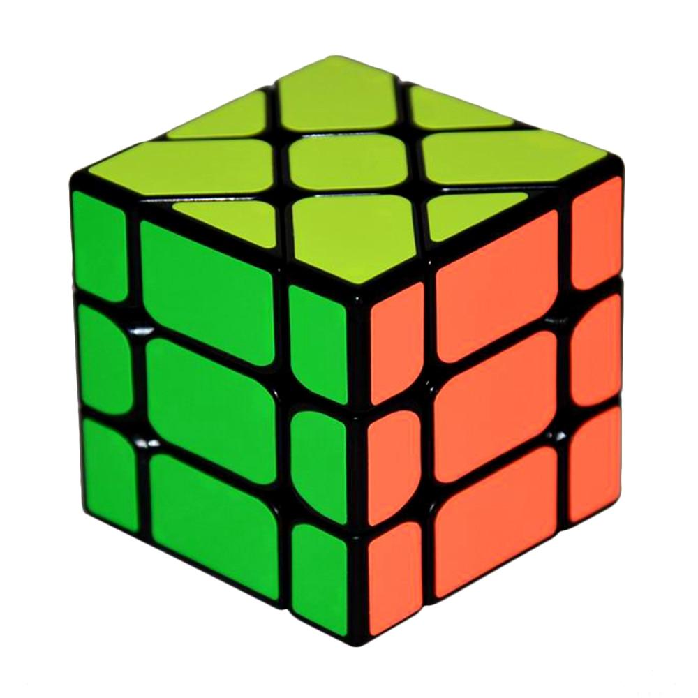 Yongjun τετράγωνο βασιλιά Fisher 3x3x3 Πίσω πλαστική ταχύτητα Magic κύβος παζλ κύβος Εκπαιδευτικά παιχνίδια για παιδιά Παιδιά