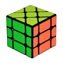 Yongjun Square King Fisher 3x3x3 Skew Plastic Speed Magic Cube Puzzle Cubes Educational Toys For Children Kids