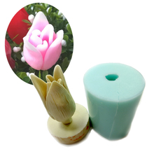 PRZY HC0019 Bouquet Floral flowers 3d Tulips Silicone molds candle chocolate mould silicone fondant mold clay moulds