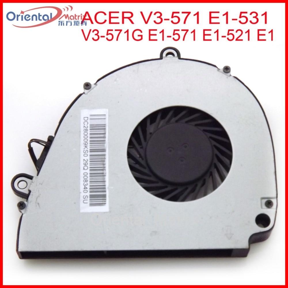 New DC280009KS0 MF60090V1-C190-G99 For ACER V3-571G V3-571 E1-531 E1-571 E1-521 E1 Gateway NV57H NV55S Laptop CPU Cooling Fan ap3843gm e1 3843gm e1 sop8