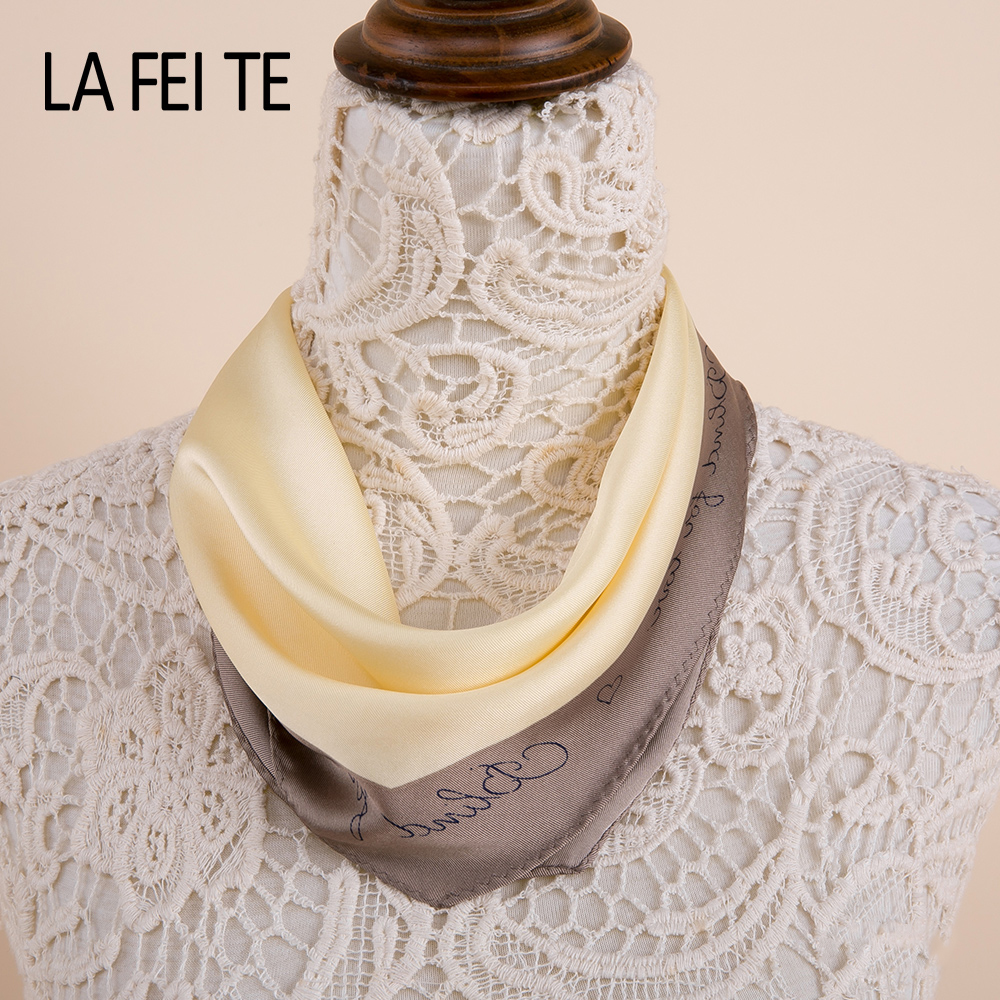 Us 5 69 40 Off Fashion Square Silk Neck Scarf Women Female Neckerchief Bandana Satin Chiffon Shawl Head Bag Hair Women Scarf For Ladies 2019 In