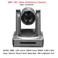 2017 Nieuwe HD-Volledige 2MP groothoek 12X Zoom Onderwijs Communicatie Videoconferentie IP Camera Onvif met HDMI SDI LAN Interface
