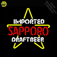 Imported Sappor Draft Beer Neon Sign Professional neon Light Sign galss tubes Commercial Lamps Neon signs for sale Dropshipping