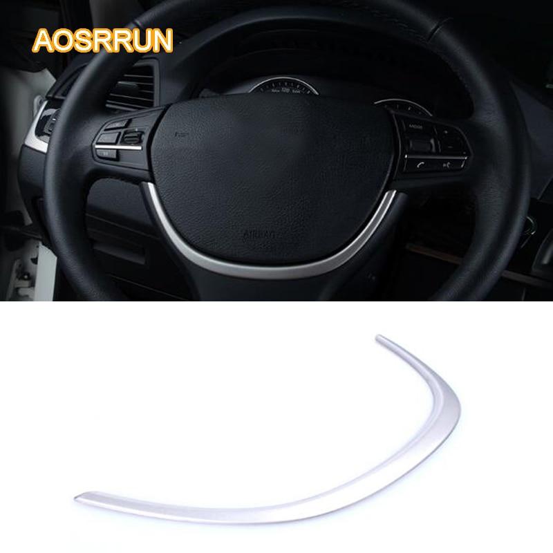 AOSRRUN ABS Chrome plate wheel decoration bar Horn molding car Car Accessories For BMW F10 5 Series 523i 525i 528 535i 550i