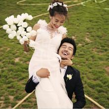 Venda quente Romantic Wedding Bridal Bouquet 2017 Realista YISHIWEI Buque de Noiva Acessórios do Casamento Floresce o Ramalhete Nupcial Em Estoque(China (Mainland))