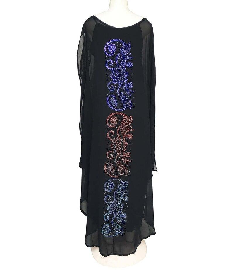 2 חתיכה להגדיר שמלות אפריקאיות נשים דאשיקי יהלומי בגדים אפריקאים Bazin ברודר ריש סקסי Slim Robe הערב ארוך שמלה