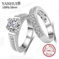 Victoria Wieck Princess Cut Brand Jewelry 925 Sterling Silver White Clear 5A CZ Stones Wedding Bridal