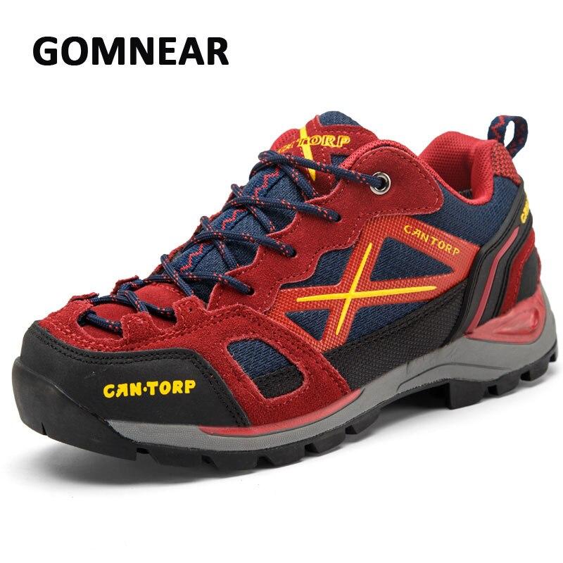 GOMNEAR chaussures de randonnée hommes Flexible respirant chaussures de randonnée en plein air bottes tactiques confortable Sport hommes chaussures Camping de montagne