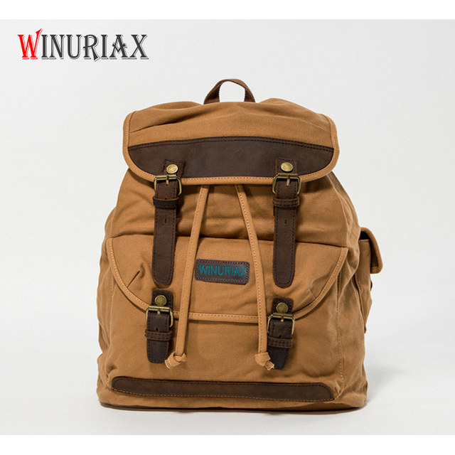 d4fb5bd4b814 New Large capacity Europe canvas bag men s backpack Solid male casual  travel backpacks waterproof string shoulder bag