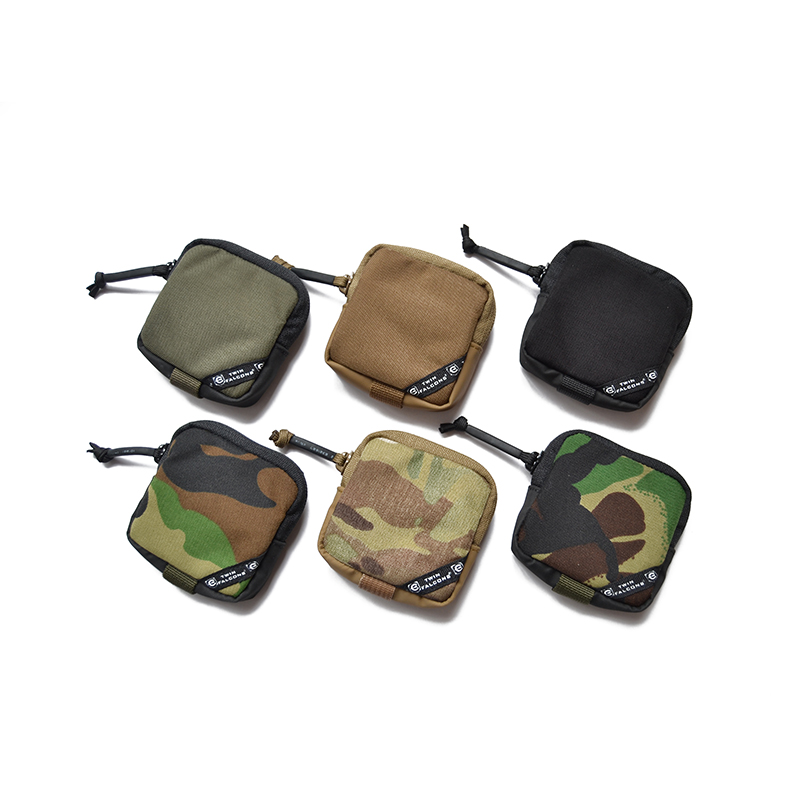 500D Cordura Mini Tactical Accessories Pouch For Earphone EDC Key Pouch Coin Purse Ranger Green Wallet Multicam Tool Bag TW-P041