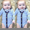 2016 Baby Bodysuit Long-Sleeved Baby Infant gentleman Body suits Boy Girl Jumpsuits Clothing Newborn Clothes