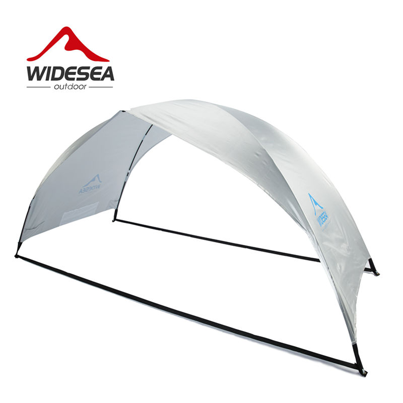WIDESEA beach tent awning 2-3 person beach sunshade awning quick open 90% UV-protective awning tent for camping fishing image