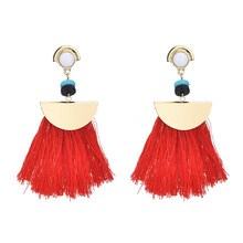 Brand Drop Earrings For Women Bohemian Ethnic Big Long Tassel Earrings Wholesale Fashion Jewelry Style Earrings Female Wholesale недорого