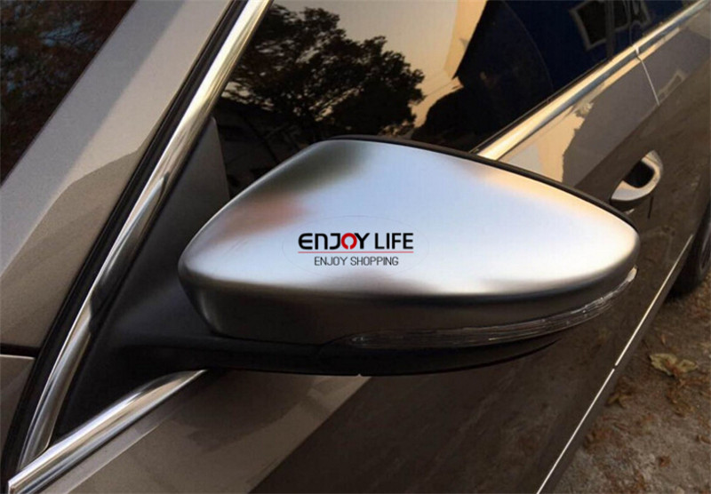 Matte Silver Chrome Side Wing Rear View Rearview Mirror Cover Shell Trim For Volkswagen VW GOLF 7 MK7 GTI R 2013 2014 2015 side wing rearview mirror cover trim protector chrome decor car styling for vw volkswagen golf 7 mk7 r gti 2014 2017 accessories