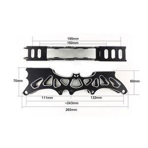 Image 4 - Frame & 85A Wheels & Bearings 3 * 100 / 110 mm Base for Inline Skates for Slalom Slide Skating for Adult Kids Skates Basin DJ49