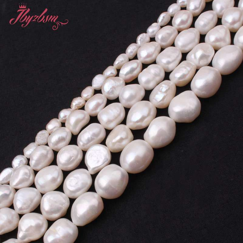 10pcs Natural Big Hole Oval Freshwater Pearl Pearls Beads For Jewelry Making Diy Necklace Bracelet Jewelry 8-9mm*10-11mm Various Styles Beads Beads & Jewelry Making