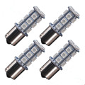 4X Amber Yellow BAU15S 1156 5050 7507 PY21W 18-SMD Tail Brake/Backup/Turn Signal LED Lights DC 12V 24V