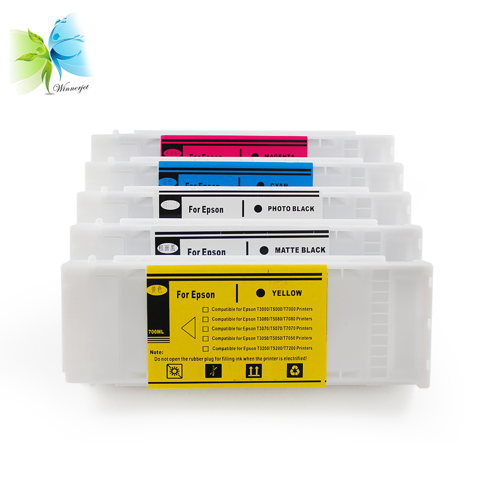 700ml T6941-T6945 Full Pigment ink cartriges for Epson T3070 T5070 T7070 printer