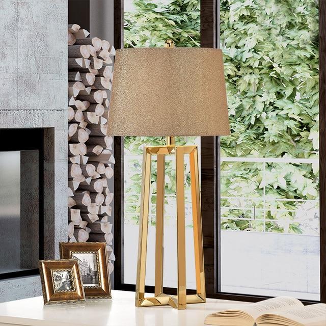 Edelstahl Lampe Shades Big Moderne Tisch Lampen Für Wohnzimmer ...