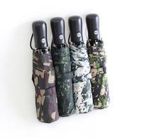 2013 Creative Camouflage Umbrella Personality Male Umbrella Fully Automatic Outdoor Folding Umbrella Free Shipping