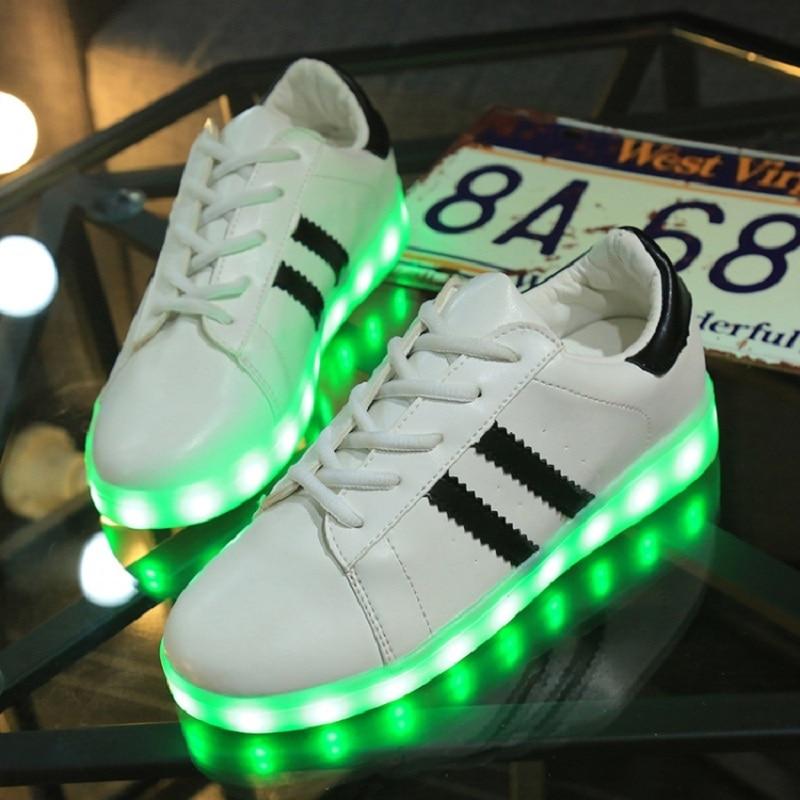 Adidas Lumineuse S Superstar Allume Led Qui Panier chaussure Femme dxBWQCroe