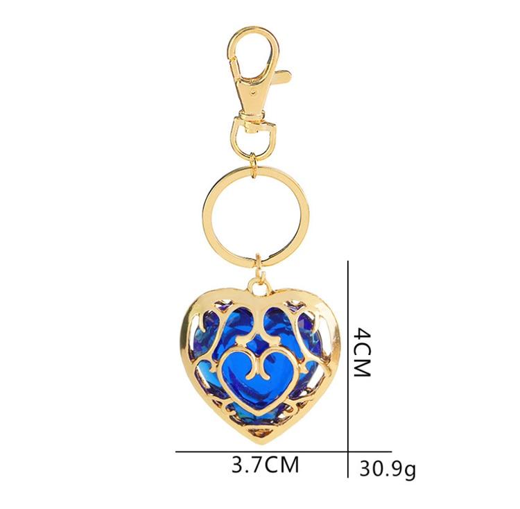 ZRM модные украшения Легенда о Zelda брелок синий кулон в виде красного сердца влюбленные пары брелок для женщин и мужчин