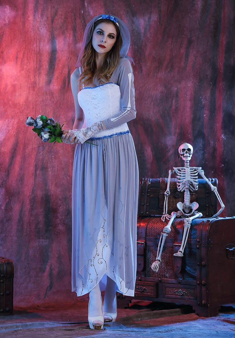 corpse bride costume by kitten von mew source women purim ghost bridal cosplay 2016 halloween costume zombie