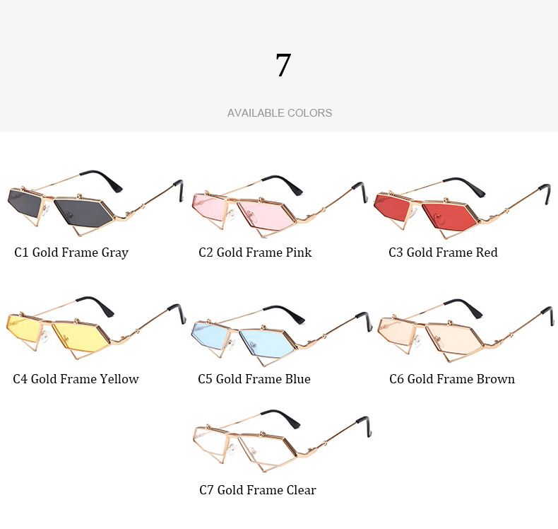 f06514f95d Retro Steam punk Metal Flip Triangle Sunglasses Women High Quality ...