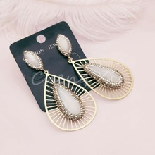 A new style  fashion  earrings big gem design beautiful and elegant