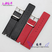 Watchband 21mm 18mm buckle New Mens Womens Red Genuine Leather Watch BANDS Straps Rose gold watch