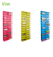 1pcs Washable Over The Door Hanging Shoe Organizer Storage Holder Storer For 26 Pairs Shoes Smart