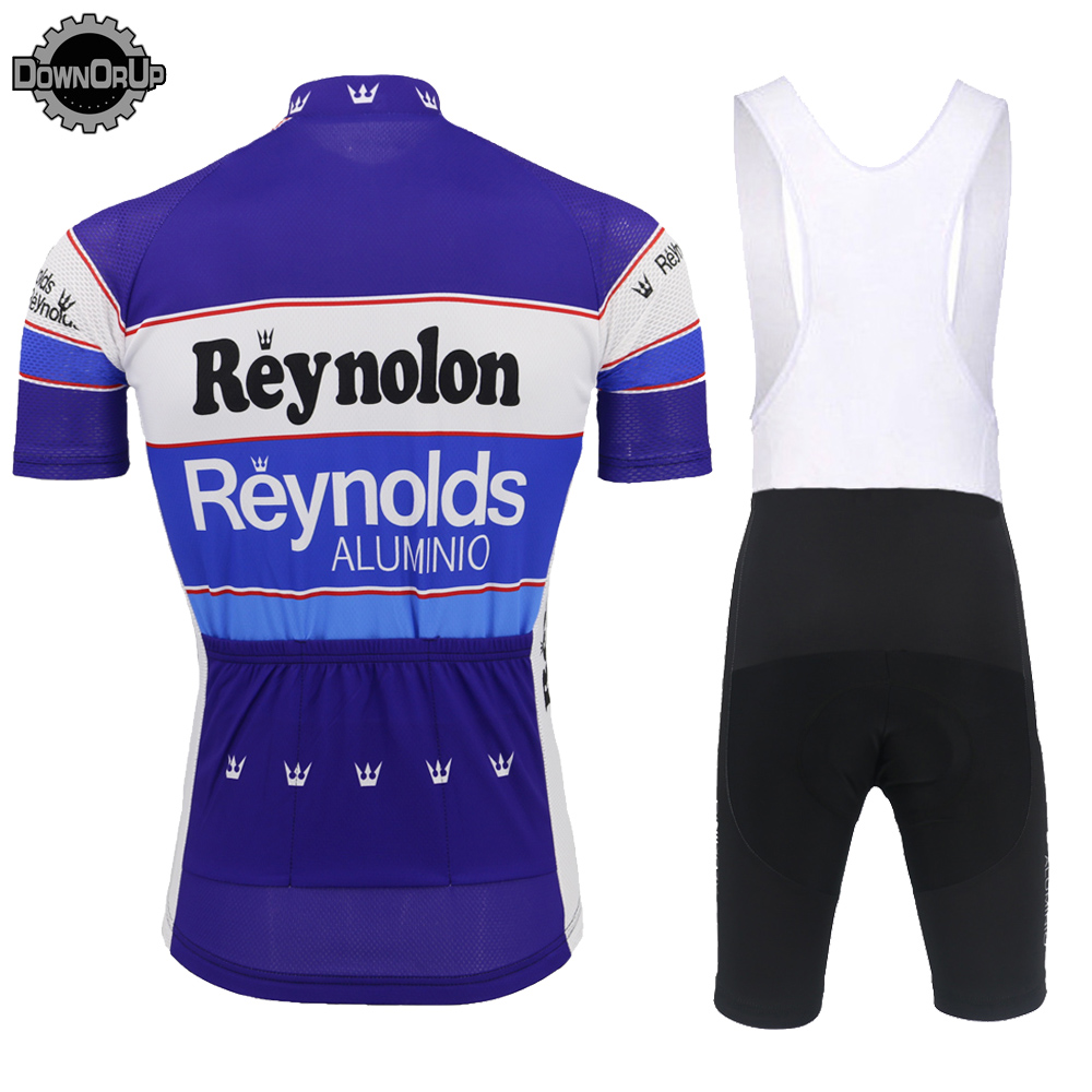 Image 2 - Retro short sleeve jersey set pro team bike wear jersey set bib shorts breathable 9D gel Pad  cycling clothing MTB ropa Ciclismo-in Cycling Sets from Sports & Entertainment