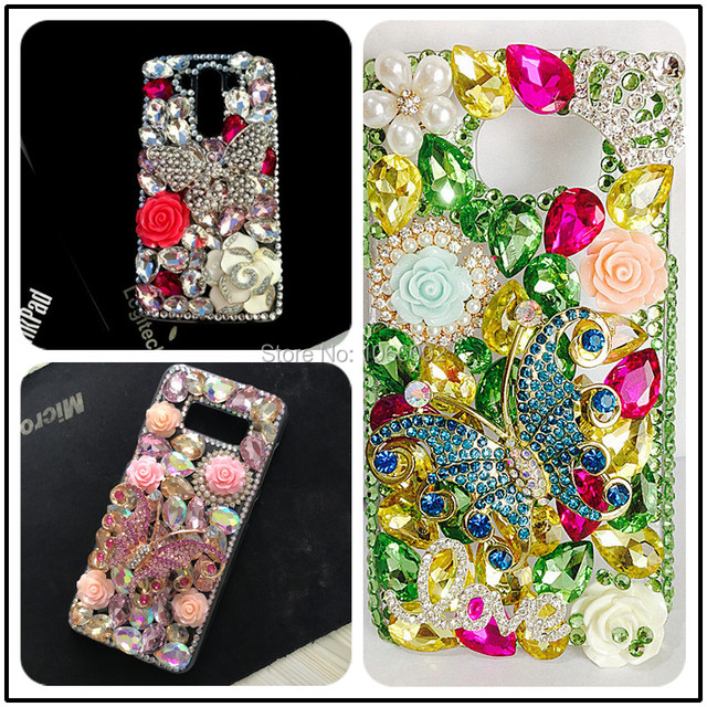Luxe BRICOLAGE Cristal Diamant 3D Papillon Bling pour Samsung Galaxy A50 A70 A10 A20 A20E A40 A21S A30S A41 A31 A51 A71 A90 5G