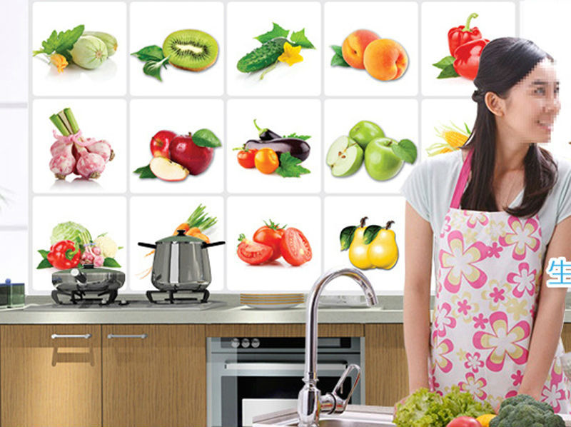 Popular apple kitchen wallpaper buy cheap apple kitchen wallpaper lots from china apple kitchen - Apple kitchen decor cheap ...
