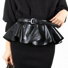 Fashion ultra wide cronyism  black waist belt female fashion