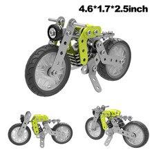 Inteligente de Construção de Conjunto Construção 120 pcs Retro Motocicleta Modelo 3D Puzzle DIY Toy Kids Crianças Crianças Hands-on Brinquedos Aniversário presentes Dropship