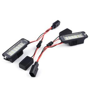 Image 4 - VODOOL 2Pcs 12V LED Number License Plate Light Lamps Car License Plate Lights Exterior Accessories for VW GOLF 4 5 6 7 Polo 6R