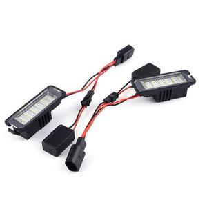 Image 4 - VODOOL plaque dimmatriculation de voiture, 2 pièces, éclairage, pour VW GOLF 4 5 6 7 Polo 6R, 12V LED